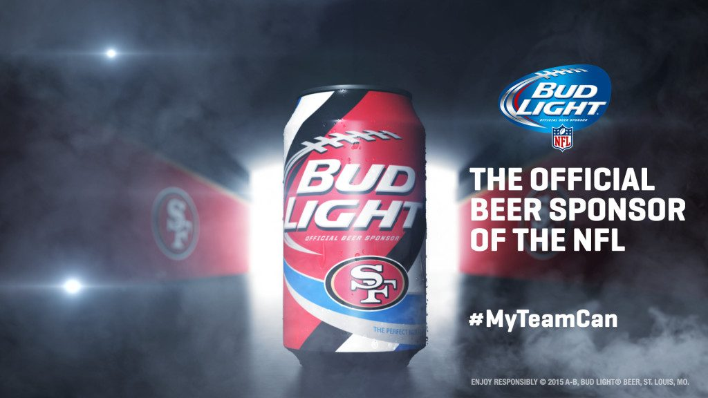 San Francisco 49ers Bud Light Can
